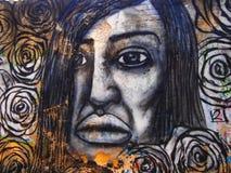 Scena urbana prospera di arte della via e dei graffiti a Lisbona, Portogallo, 2014 Fotografie Stock Libere da Diritti