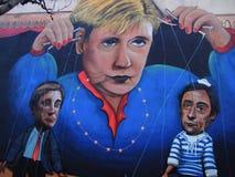 Scena urbana prospera di arte della via e dei graffiti a Lisbona, Portogallo, 2014 Immagini Stock Libere da Diritti