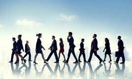 Scena urbana Team Concept dell'ufficio corporativo di affari del collega Immagini Stock