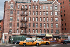 Scena urbana un giorno nuvoloso, NYC, U.S.A. del Greenwich Village Fotografie Stock Libere da Diritti