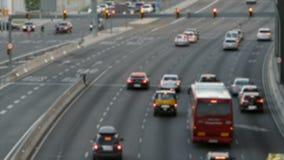 Scena vaga di traffico urbano Lasso di tempo stock footage