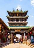 Scena-vecchia costruzione leggendaria di Ping Yao immagini stock