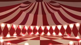 Scena vuota del circo 3d con le luci Fotografia Stock Libera da Diritti