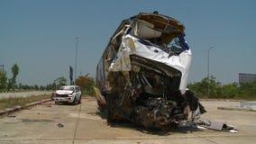Scena wypadek między dwa pojazdami zbiory