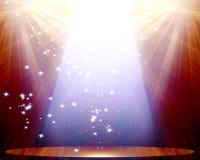 Scena z światłem reflektorów Zdjęcia Royalty Free