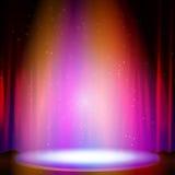 Scena z światłem reflektorów również zwrócić corel ilustracji wektora Obrazy Royalty Free