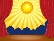 Scena z abstrakcjonistycznym słońcem 1 Fotografia Stock