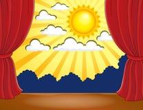 Scena z abstrakcjonistycznym słońcem 3 Zdjęcia Royalty Free