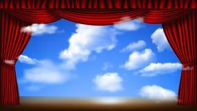 Scena z cloudscape ilustracji
