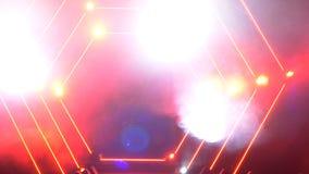 Scena z dymu i punktu światłami 3d tła pojęcia ilustracja odizolowywał prezentacja odpłacającego się biel Nowożytny podium lub sc Obrazy Royalty Free