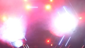 Scena z dymu i punktu światłami 3d tła pojęcia ilustracja odizolowywał prezentacja odpłacającego się biel Nowożytny podium lub sc Obrazy Stock