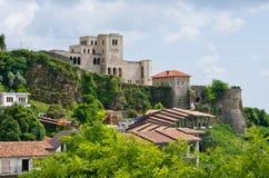Scena z Kruja kasztelem blisko Tirana, Albania Fotografia Royalty Free