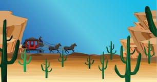 scena zachodniej royalty ilustracja
