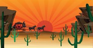 scena zachodniej ilustracja wektor