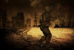 Scenario di Apocalyptics della posta royalty illustrazione gratis