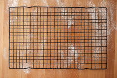 Scenario of a kitchen table top view with baking material Royalty Free Stock Image
