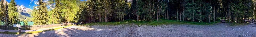 Scenario panoramico delle alpi italiane, dolomia Immagine Stock Libera da Diritti