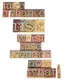 Scenariot för det dåligaste fallet - ta risken Arkivbild