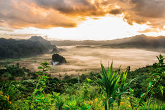 Scenary fog and cloud at Phulangka Stock Images