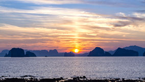 Free Scenary Of Sunset At The Sea.on Twilight Sky After Sunset. Royalty Free Stock Photography - 90913477