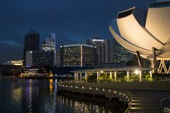 Scenary urbain de Singapour photos stock