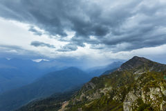 Scenary widok Kaukaz góry Fotografia Royalty Free
