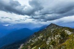 Scenary widok Kaukaz góry Obrazy Stock