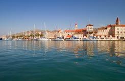 Scenc coastal town. Medieval coastal town on the Adriatic sea Royalty Free Stock Photo