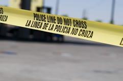 Scence de crime à la station service Photographie stock