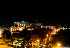 Scence de nuit à Pattaya, Thaïlande. Photos stock