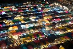 Scence di notte della vista aerea di panorama di Bangkok della notte mA di Bangkok Immagini Stock Libere da Diritti