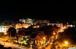 Scence di notte a Pattaya, Tailandia. Fotografia Stock