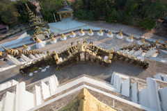 Scence from the top of Mahazedi pagoda at Myanmar Royalty Free Stock Photo