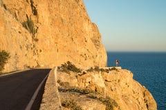 Scenci coastal road Stock Images