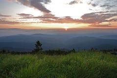 Scene. It is impressive natural scenery at sunset Stock Photo