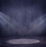 Scene. Empty grungy scene with 2 light spots royalty free stock image