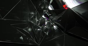 A scene of an abstract background with black and mirror triangles making a pattern. Scene of of an abstract background with black and mirror triangles making a vector illustration
