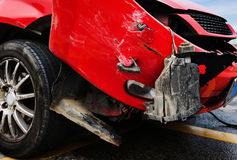 The scene of the accident on the road. Details of a car an accident Royalty Free Stock Images