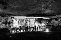 Scene from the amazing bulgarian cave Magura Stock Photo