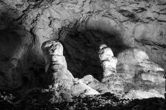 Scene from the amazing bulgarian cave Magura Royalty Free Stock Photography