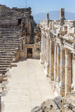 Scene in the amphitheater in ancient Hierapolis Royalty Free Stock Images