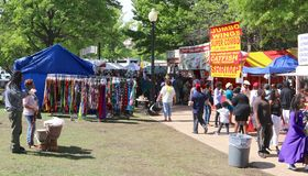 Scene At The Annual Africa In April Festival in Downtown Memphis Royalty Free Stock Image