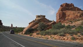 Scene from Arches National Park stock video