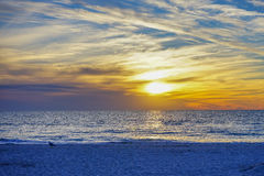 This scene as a sun set at St petersburg beach Stock Photos