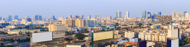 Scene of Bangkok high-rise buildings andexpressway Royalty Free Stock Photography