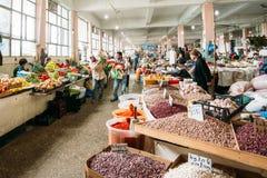 Scene In Bazar, Batumi Georgia. Sellers, Buyers Among Abundant C Stock Photos