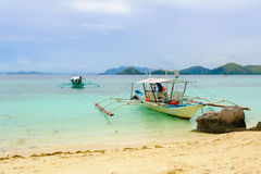 Scene of beach in coron, philippines Royalty Free Stock Photography