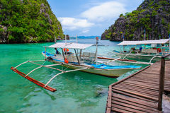 Scene of beach in coron, philippines Royalty Free Stock Images