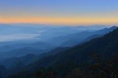 Scene of beautiful mountains on sky background Stock Image