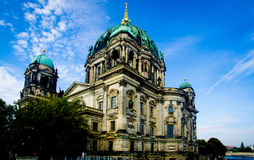 A scene of Berlin Cathedral in Germany Stock Photos